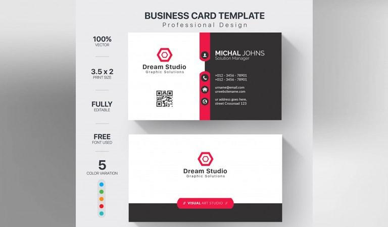 طراحی کارت ویزیت - چاپ حرفهای