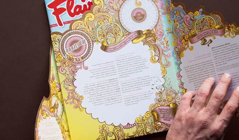 طراحی فولدر - پوشه ارائه برای مجله Flair