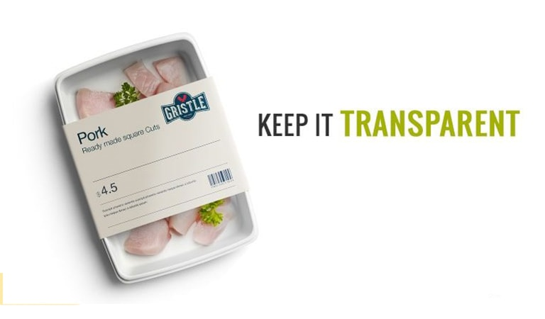 طراحی لیبل - بسته بندی شفاف