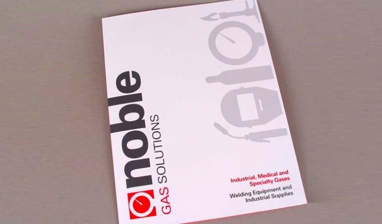 طراحی فولدر - پوشه ارائه راه حل برای شرکت Noble Gas