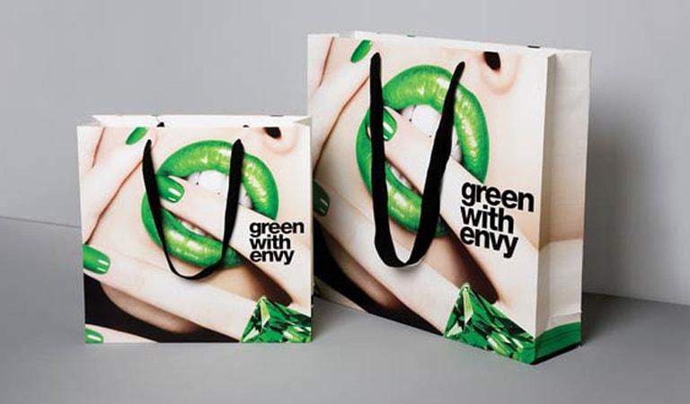 طراحی ساک دستی - ساکدستی Green Whit Envy