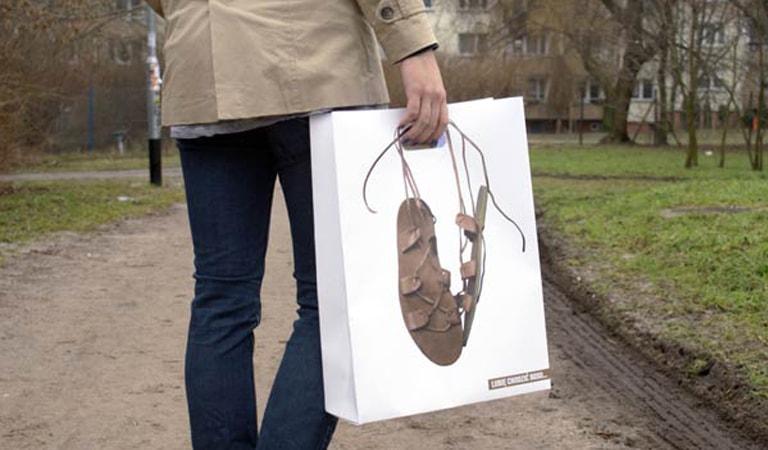 طراحی ساک دستی - ساکدستی I like walking Barefoot