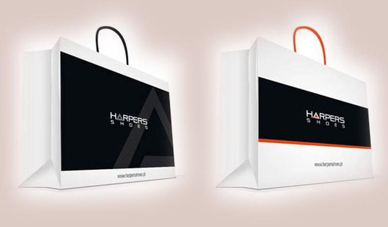طراحی ساک دستی - کیسه کاغذی کفش Harpers