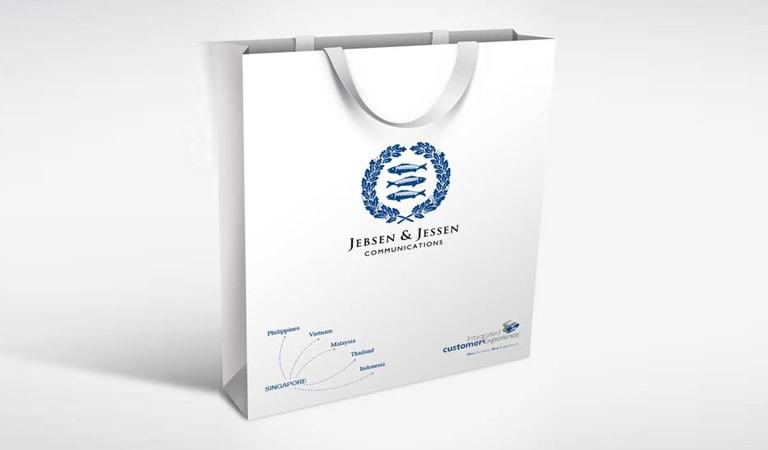طراحی ساک دستی - ساکدستی کاغذی Jebsen & Jessen