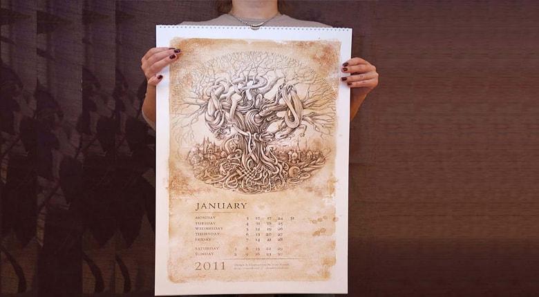 ۲۳ نکته طلایی برای طراحی تقویم تبلیغاتی خلاقانه