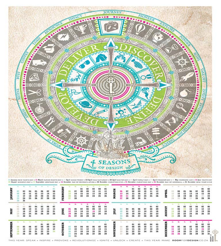 طراحی تقویم - به پایداری فکر کنید