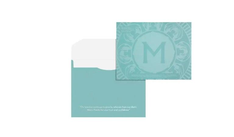 طراحی پاکت نامه - یک پیام شخصی درج کنید
