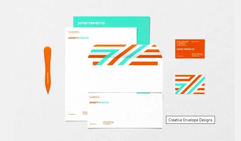 طراحی پاکت نامه - اضافه کردن خطوط