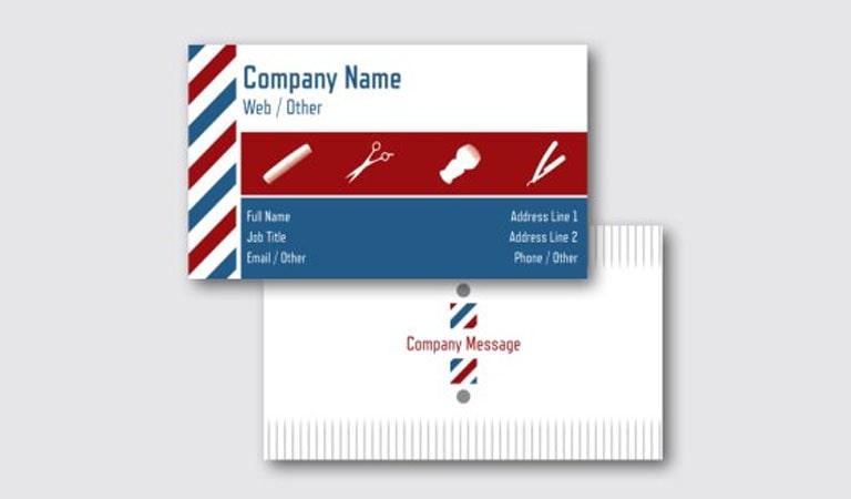 کارت ویزیت آرایشگاه مردانه - رنگ ها و نمادهای سنتی