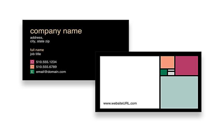 کارت ویزیت آرایشگاه زنانه - مربع های رنگارنگ