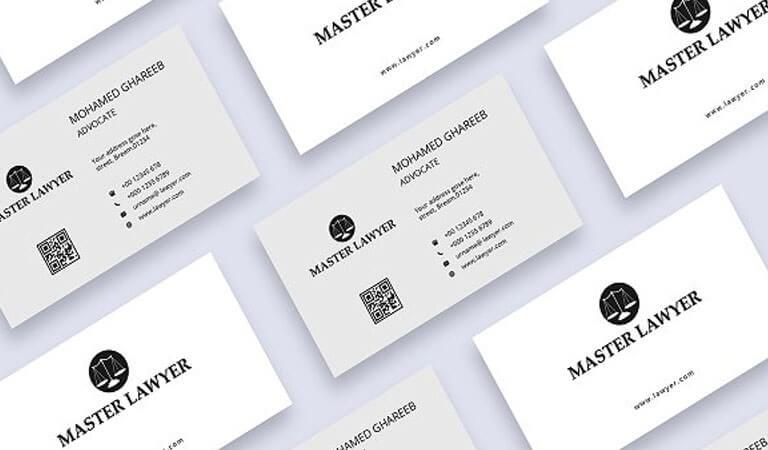 کارت ویزیت وکالت - قالب سفید برای کارت ویزیت وکالت