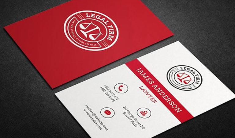 کارت ویزیت وکالت - قالب قرمز برای کارت ویزیت وکالت