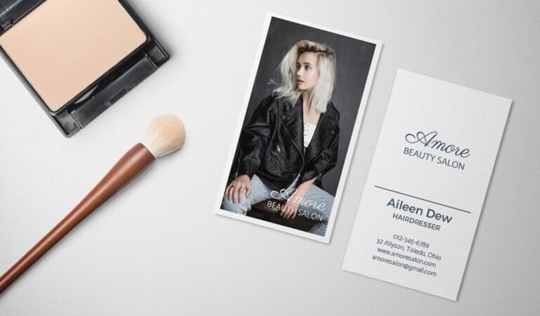 کارت ویزیت آرایشگاه زنانه - ظریف و مرزی