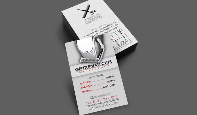 کارت ویزیت آرایشگاه مردانه - داشتن اطلاعات مفید