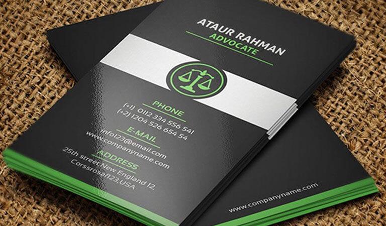 کارت ویزیت وکالت - قالب کارت ویزیت شرکت حقوقی