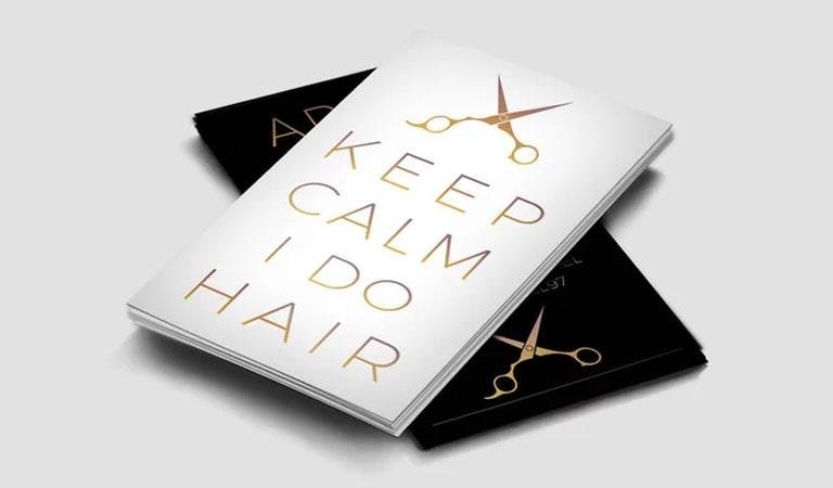 کارت ویزیت آرایشگاه مردانه - توجه به فرهنگ عامه
