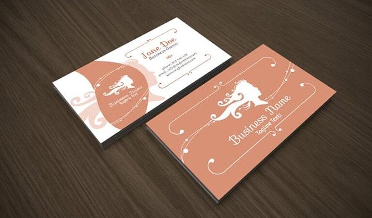 کارت ویزیت آرایشگاه زنانه - سایه های زنانه