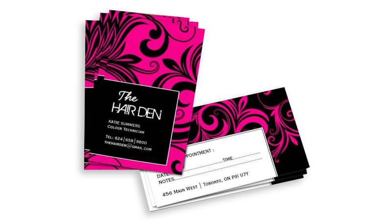 کارت ویزیت آرایشگاه زنانه - کارت یادآوری قرار ملاقات