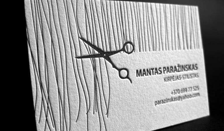 کارت ویزیت آرایشگاه زنانه - لتر پرس دستی