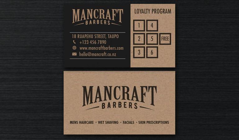 کارت ویزیت آرایشگاه مردانه - استفاده از تم های رنگی