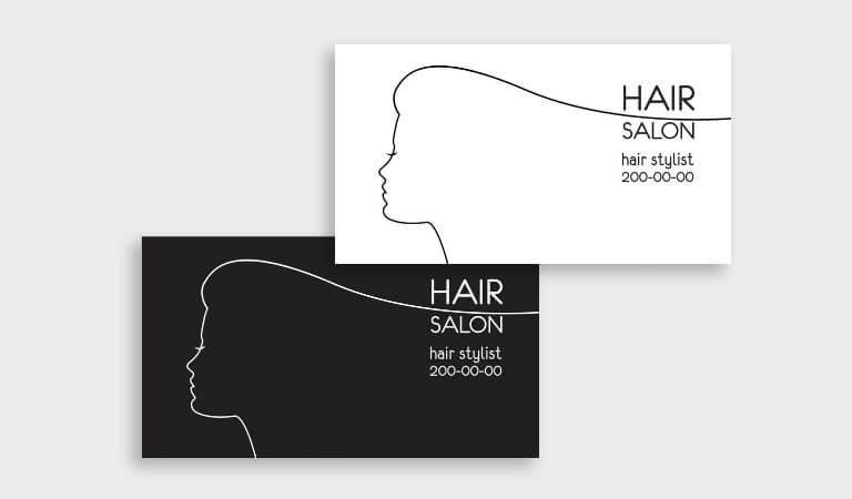 کارت ویزیت آرایشگاه زنانه - طرح مینیمالیستی