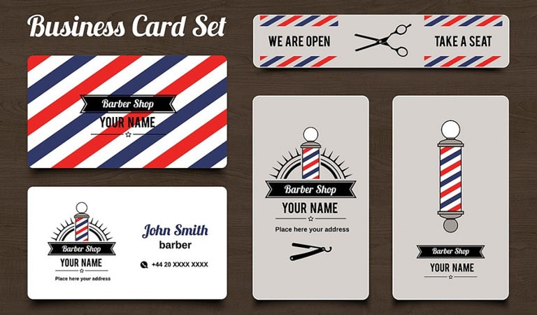 کارت ویزیت آرایشگاه مردانه - نمای منسجم