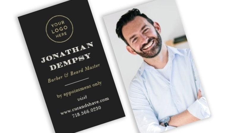 کارت ویزیت آرایشگاه مردانه - افزودن عکس خود