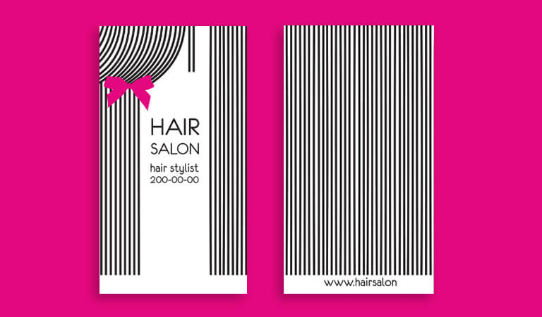 کارت ویزیت آرایشگاه زنانه - الگوهای خطی