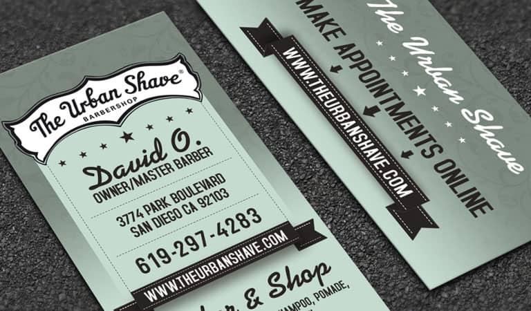 کارت ویزیت آرایشگاه مردانه - با استفاده از تایپوگرافی