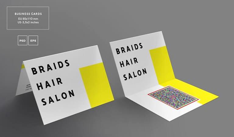 کارت ویزیت آرایشگاه زنانه - کارت ویزیت تاشو