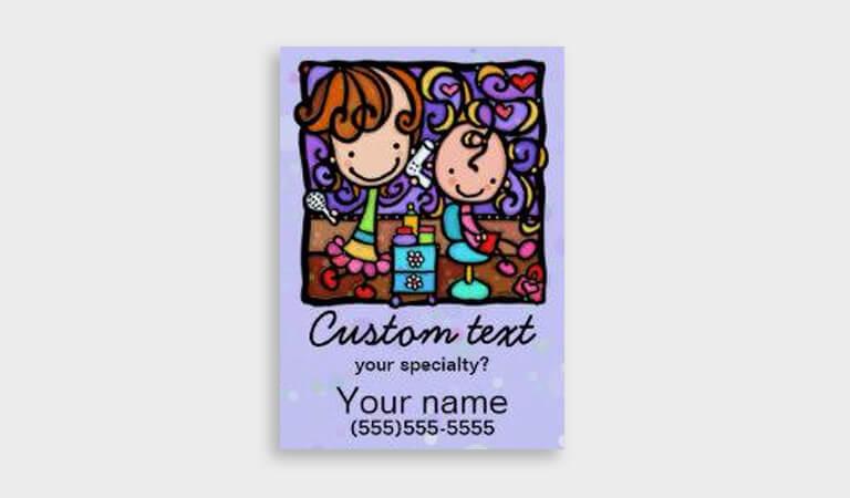 کارت ویزیت آرایشگاه زنانه - سالن های آرایش مو برای کودکان