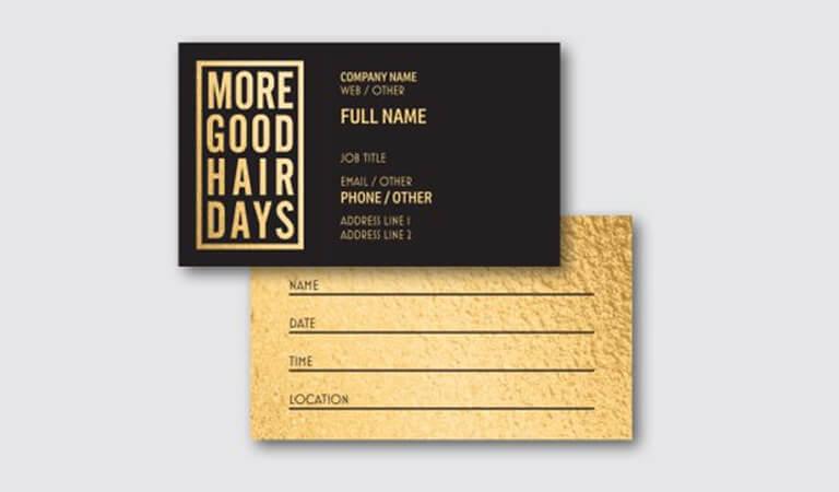 کارت ویزیت آرایشگاه زنانه - استفاده از یک عنوان مناسب
