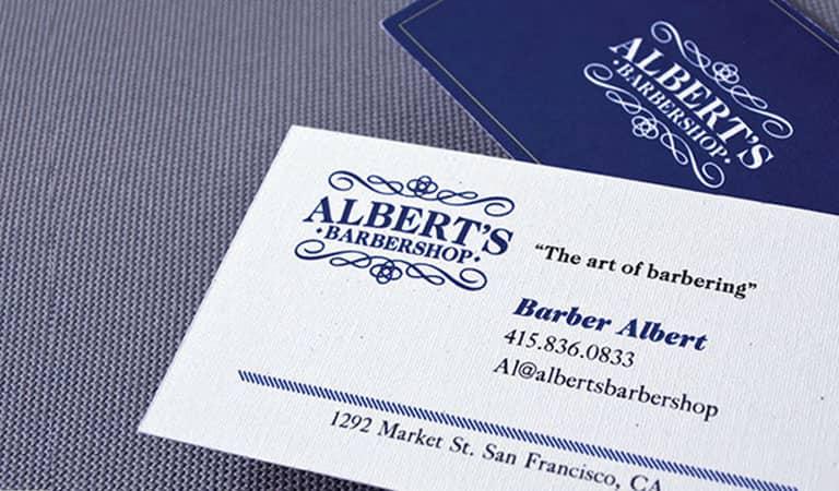 کارت ویزیت آرایشگاه مردانه - استفاده از کاغذ بافت دار