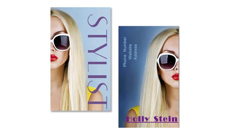 کارت ویزیت آرایشگاه زنانه - رنگارنگ کنید