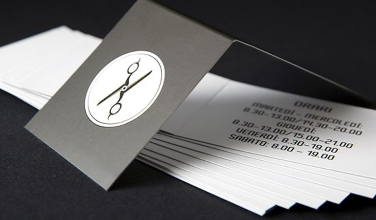 کارت ویزیت آرایشگاه مردانه - استفاده از طرح تاشو