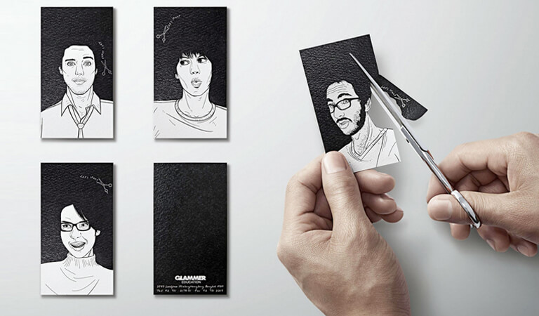 کارت ویزیت آرایشگاه زنانه - یک طرح تعاملی