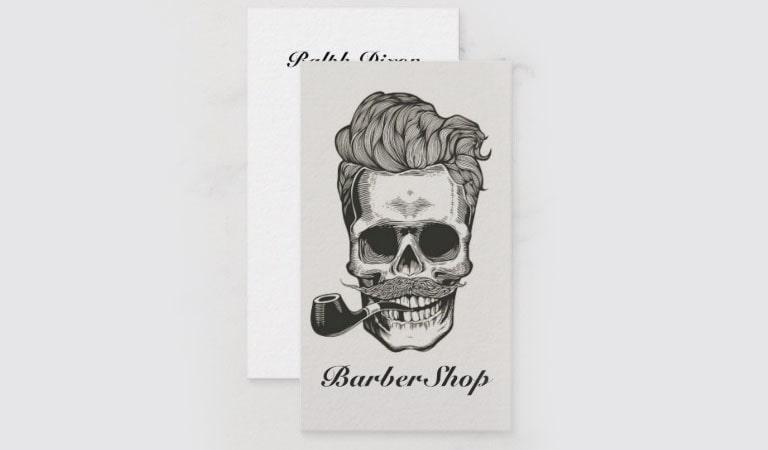کارت ویزیت آرایشگاه مردانه - نمای مرزی