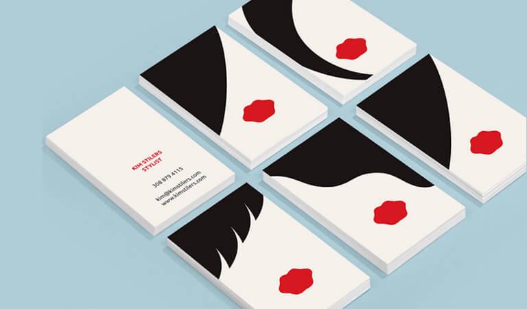 کارت ویزیت آرایشگاه زنانه - انواع مختلفی از طرح
