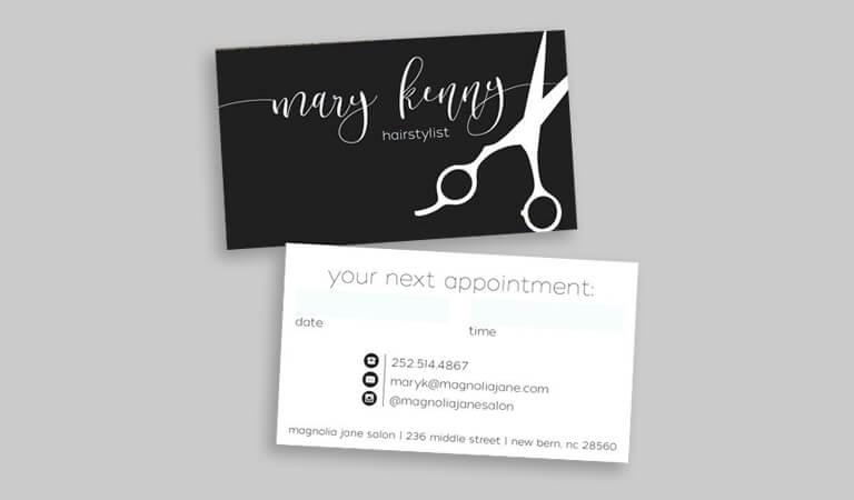 کارت ویزیت آرایشگاه زنانه - کارت ویزیت دوطرفه