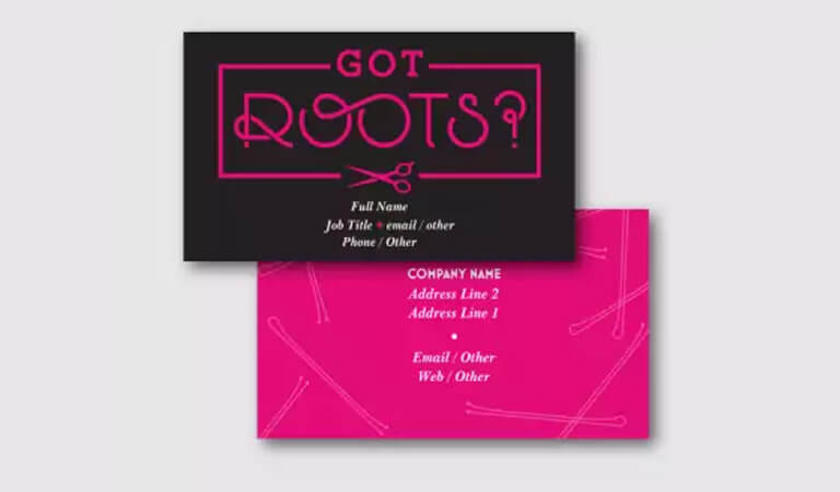 کارت ویزیت آرایشگاه زنانه - سوال بپرسید