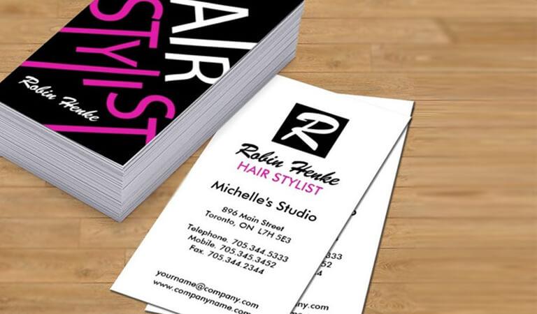 کارت ویزیت آرایشگاه زنانه - استفاده از تناژهای رنگی