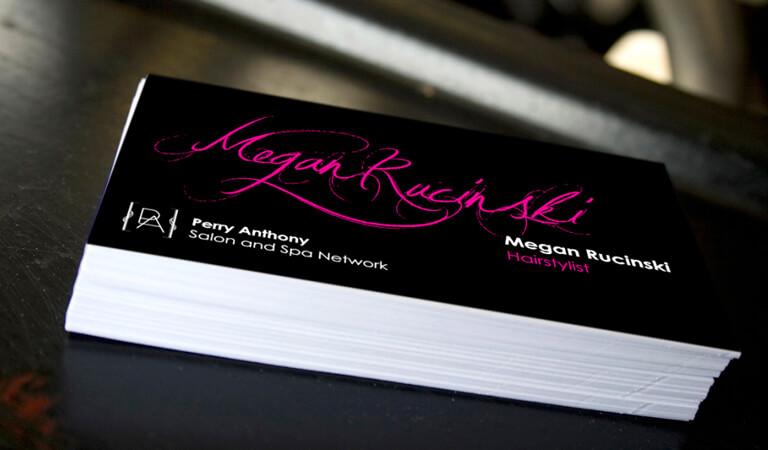کارت ویزیت آرایشگاه زنانه - طراحی با اسمتان