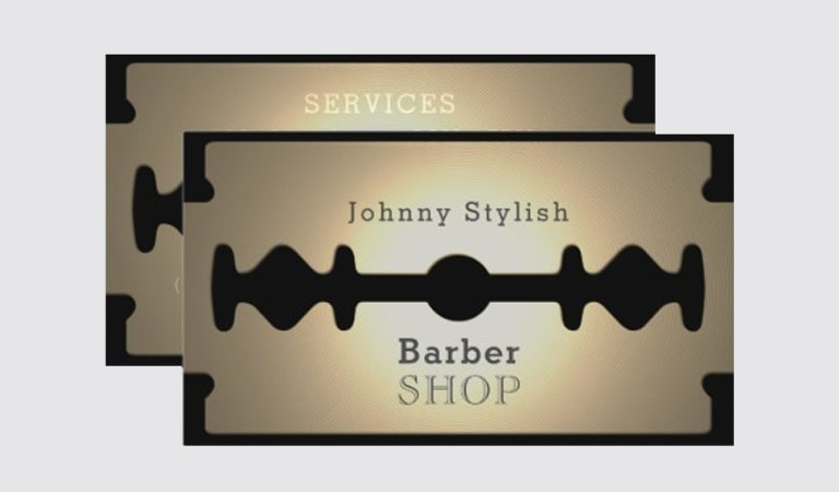 کارت ویزیت آرایشگاه مردانه - استفاده از از تصاویر آشنا