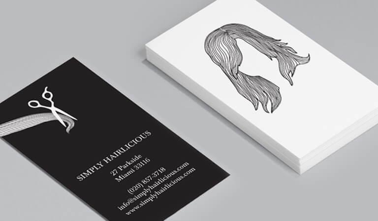 کارت ویزیت آرایشگاه زنانه - مدل مو ویژه