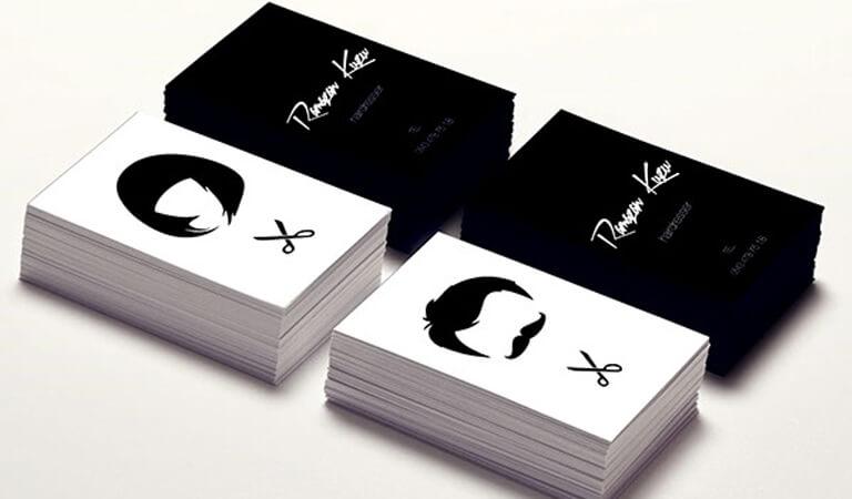 کارت ویزیت آرایشگاه زنانه - استفاده از رنگ سیاه وسفید