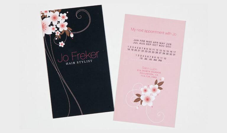 کارت ویزیت آرایشگاه زنانه - استفاده از طرح حاشیه ای