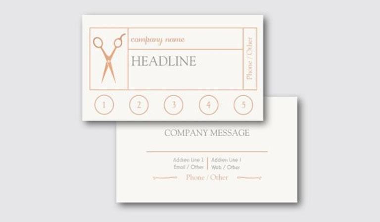 کارت ویزیت آرایشگاه مردانه - اضافه کردن یک هدف برای ارزش گذارب