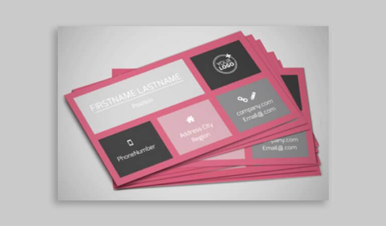 کارت ویزیت آرایشگاه زنانه - پالت پاستلی