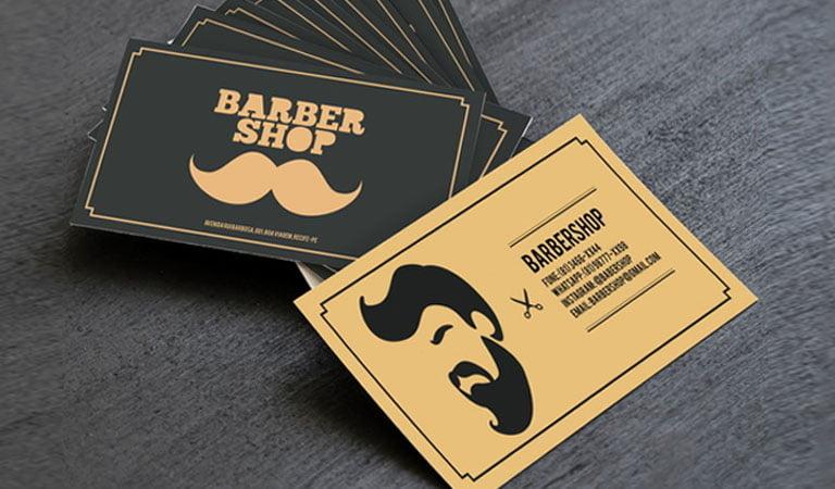 کارت ویزیت آرایشگاه مردانه - بازی با سایه ها