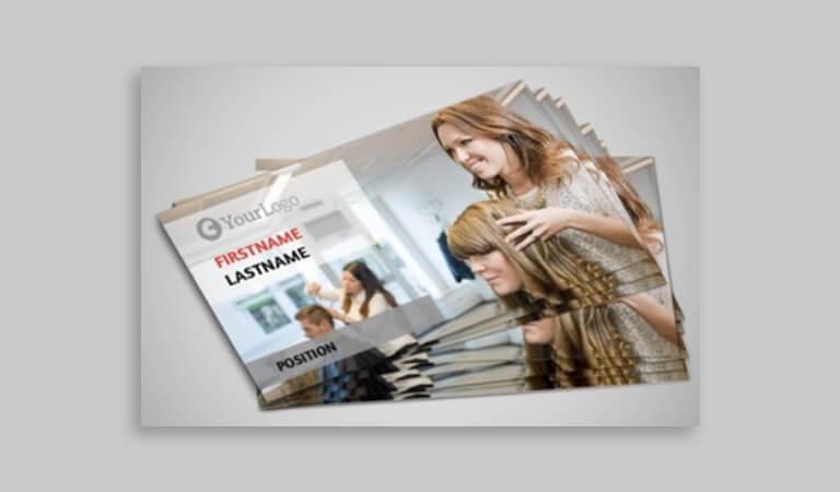 کارت ویزیت آرایشگاه زنانه - عکس فوری از سالن